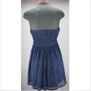 City Triangles Dresses - City Triangles halter lace dress - Navy w/ orange